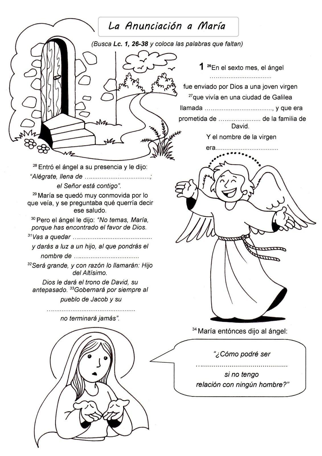 La anunciación a María José lleva a María a su casa. María visita a ...