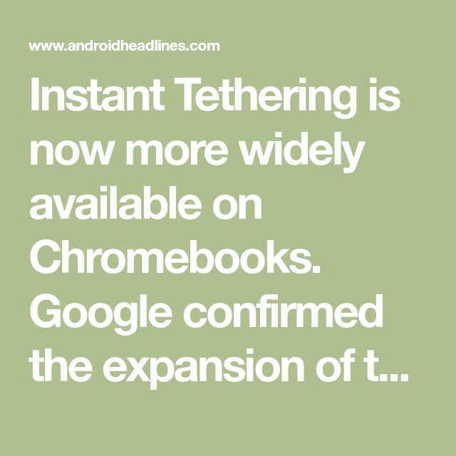 No Pixel? No Problem Instant Tethering Comes To The