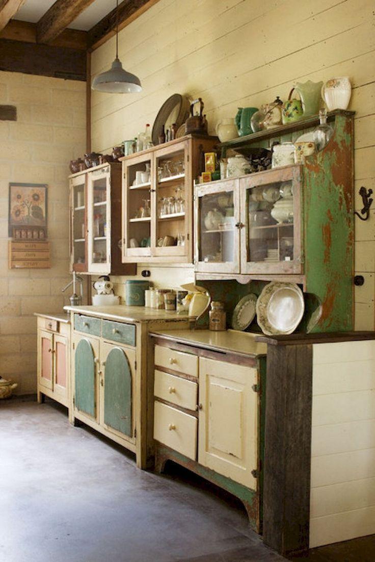 36+ Stunning Design Vintage Kitchens Ideas Remodel,  #Design #Ideas #Kitchens #Remodel #Stunn...