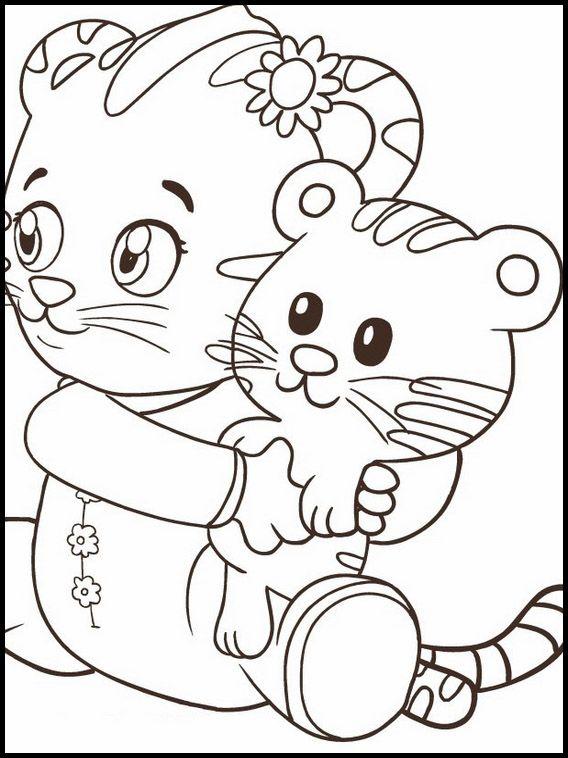 Disegni da colorare per bambini da stampare Daniel Tiger 5