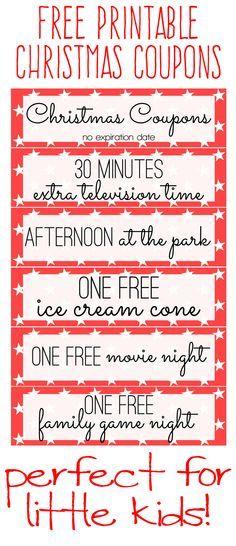 Free Printable Kids Christmas Coupon Books Christmas Pinterest