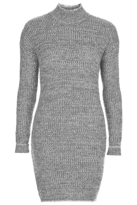 Roll Neck Jumper Dress - New In | Gray dress, Roll neck sweater ...