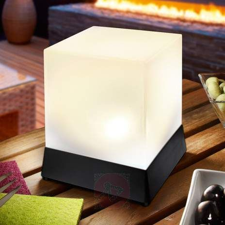 Kubusvormig LED-Solar-tafellamp Cube living Pinterest Solar - cube lumineux solaire exterieur