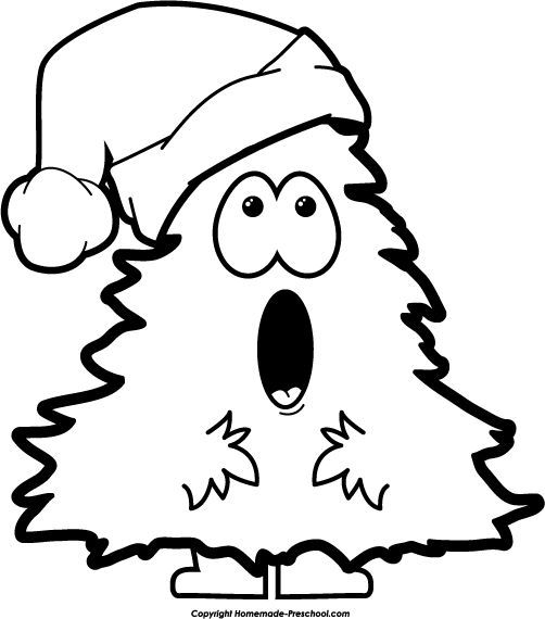 Christmas black and white clip art free christmas black and white google search clipart (With ...