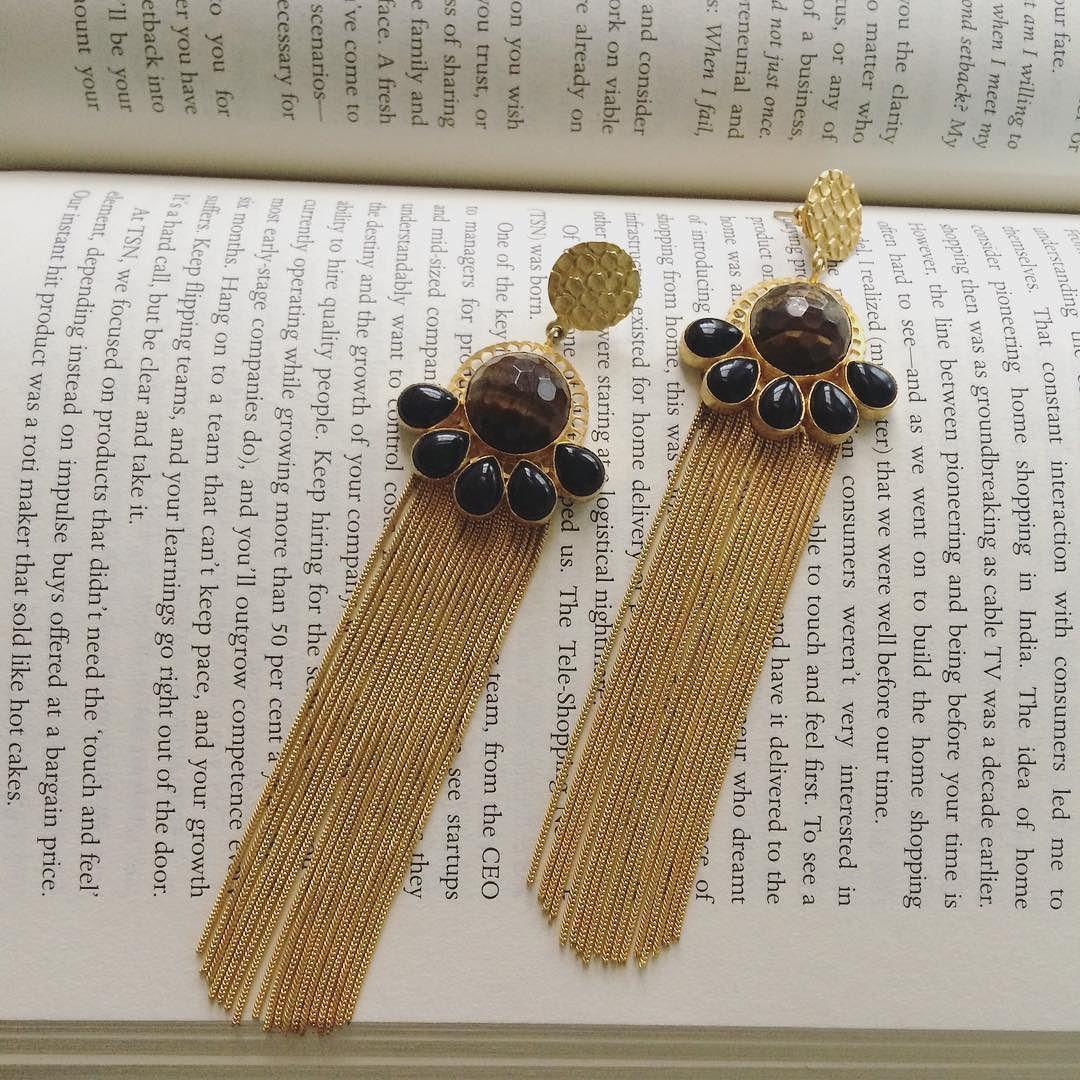 These pretty baubles can make weekends more lovable  #tassel #bohemian #earrings #goldplated #statement #shoponline #jewellerybymitalijain by jewellerybymitalijain