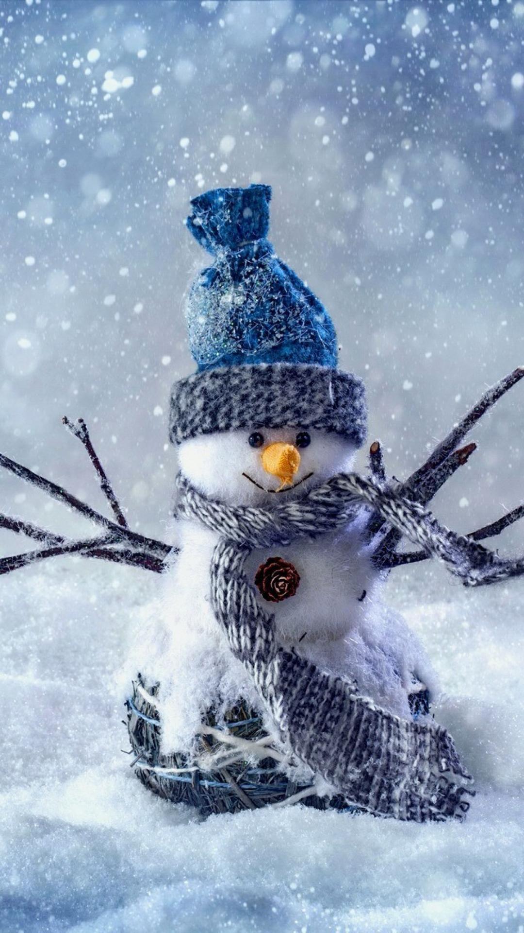Snowman Cute winter iPhoneX wallpaper 冬の壁紙, クリスマスの壁紙