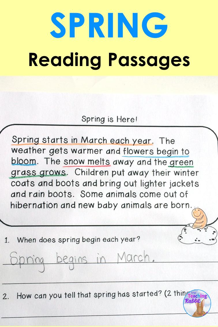 Spring Reading Comprehension Passages Distance Learning Reading Comprehension Passages Reading Comprehension Spring Reading [ 1134 x 756 Pixel ]