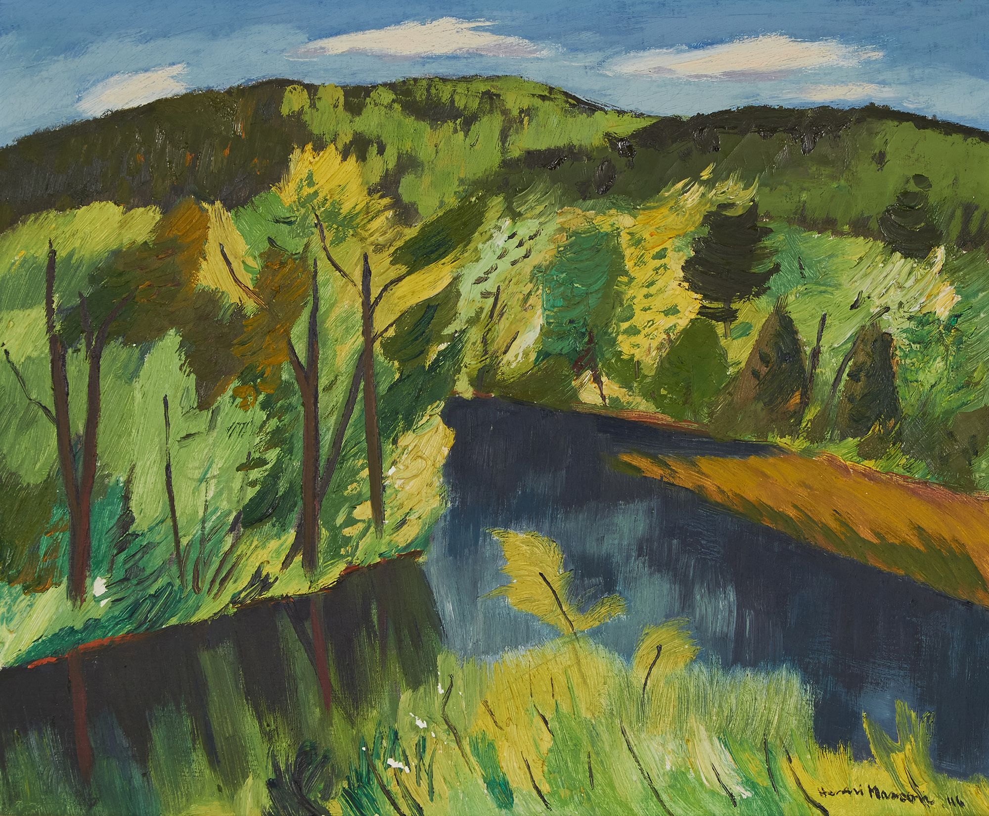 Henri Leopold Masson (1907-1996) - Pickanock River, P.Q., 1946