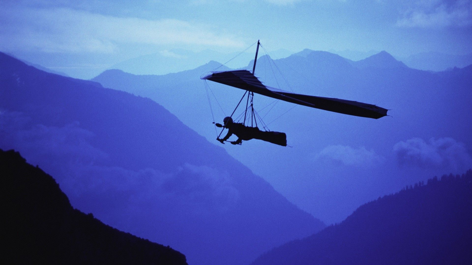 Image Detail For Hang Glider Over The Mountains