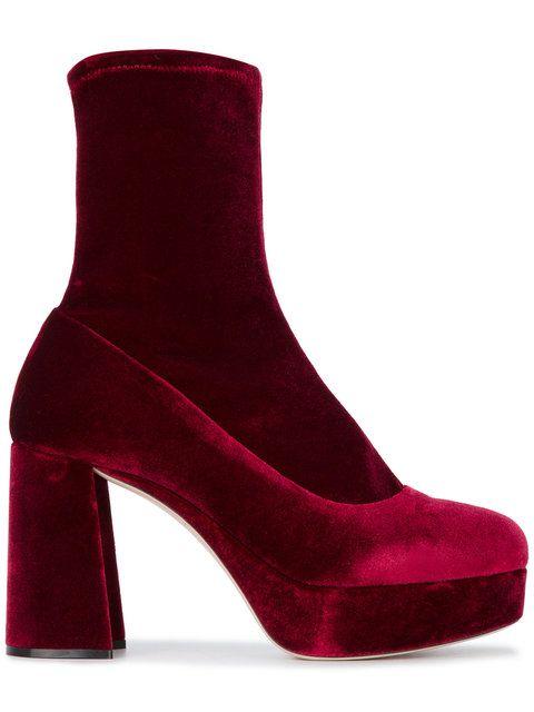 356c19d8a98 Miu Miu block heel ankle boots