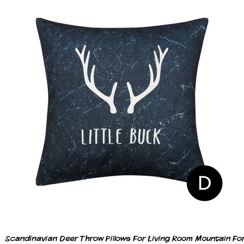 Fabulous Scandinavian Deer Throw Pillows For Living Room Mountain Inzonedesignstudio Interior Chair Design Inzonedesignstudiocom
