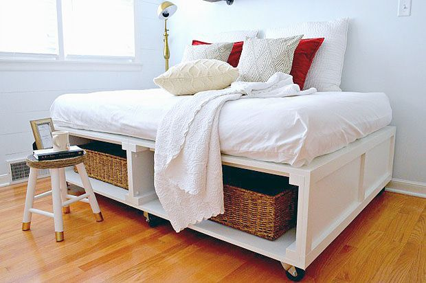14 Space Saving Projects on Wheels | Wheels, Spaces and Diy ...