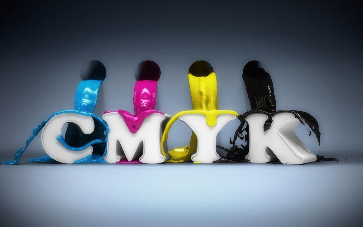 CMYK 3D Render