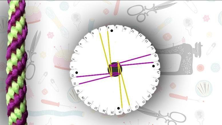 Cómo hacer una pulsera kumihimo con diseño en espiral | Manualidades