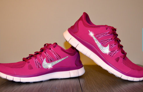 nike free run with swarovski crystals