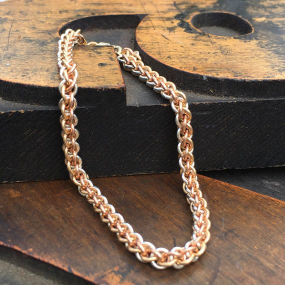 Tricolor Precious Metal  14kt Rose Gold Fill 14kt by DaisiesChain