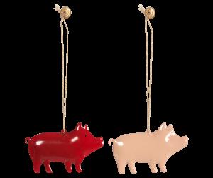 GREENGATE jetzt bestellen bei HIHOLA HOUSE&GARDEN - Maileg Weihnachtsdeko Schwein aus Metall zum Hängen in rosa