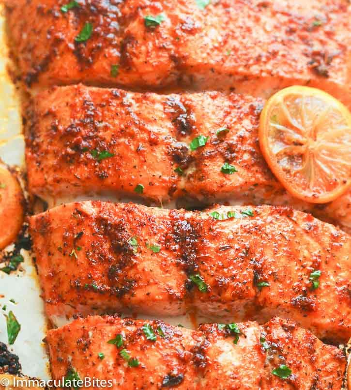 Orange Honey Glazed Salmon