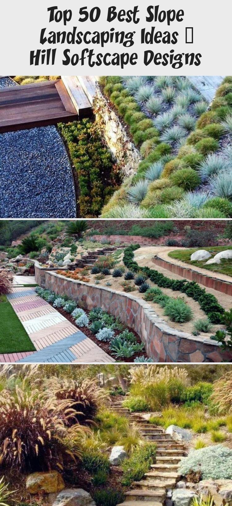Top 50 Best Slope Landscaping Ideas Hill Softscape Designs Garden Designs Garden Hil In 2020 Backyard Garden Layout Garden Design Backyard Landscaping