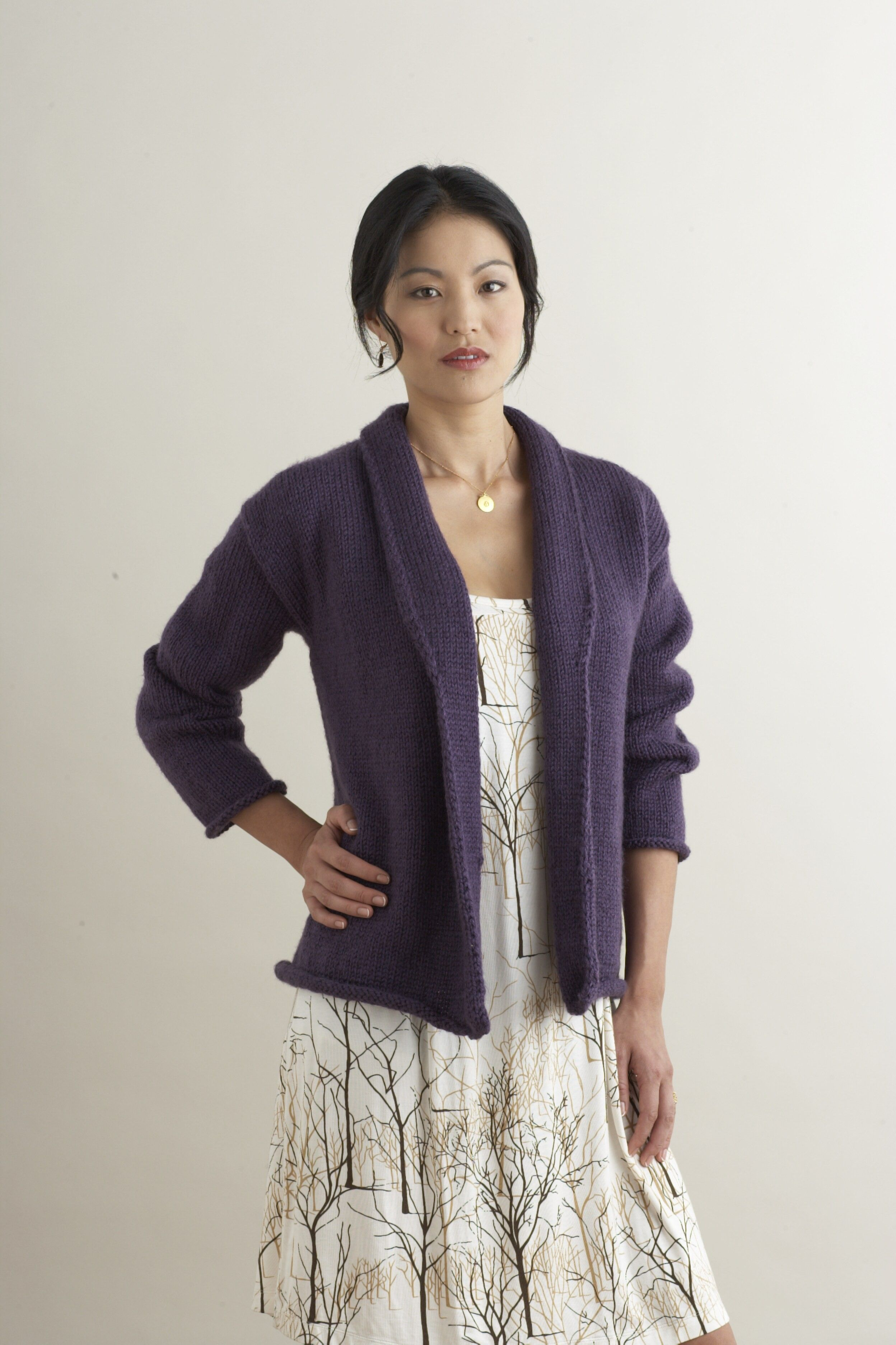 Like the sweater even though the model does not look pleased shawl collared cardigan in lion brand vanna choice discover more patterns by lion brand at loveknitting the world largest range of knitting supplies bankloansurffo Choice Image