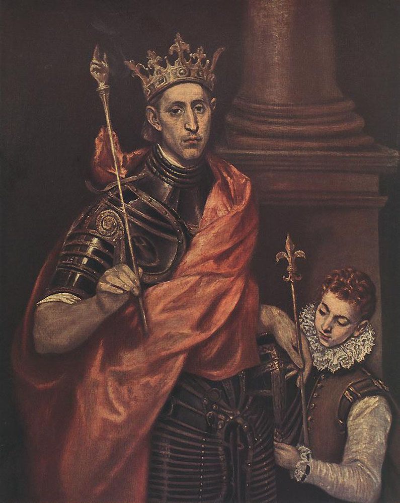 St. Louis King of France with a Page - El Greco