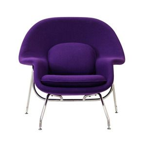 Nest Lounge and Ottoman Set in Purple
