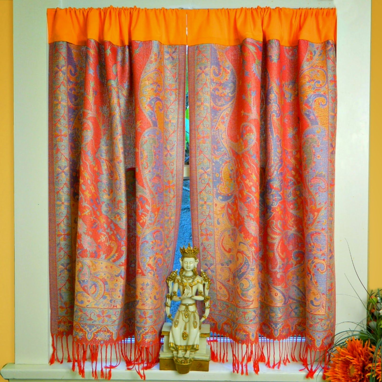 pashmina no-sew curtains - pretty cool! | There\'s No Place Like Home ...