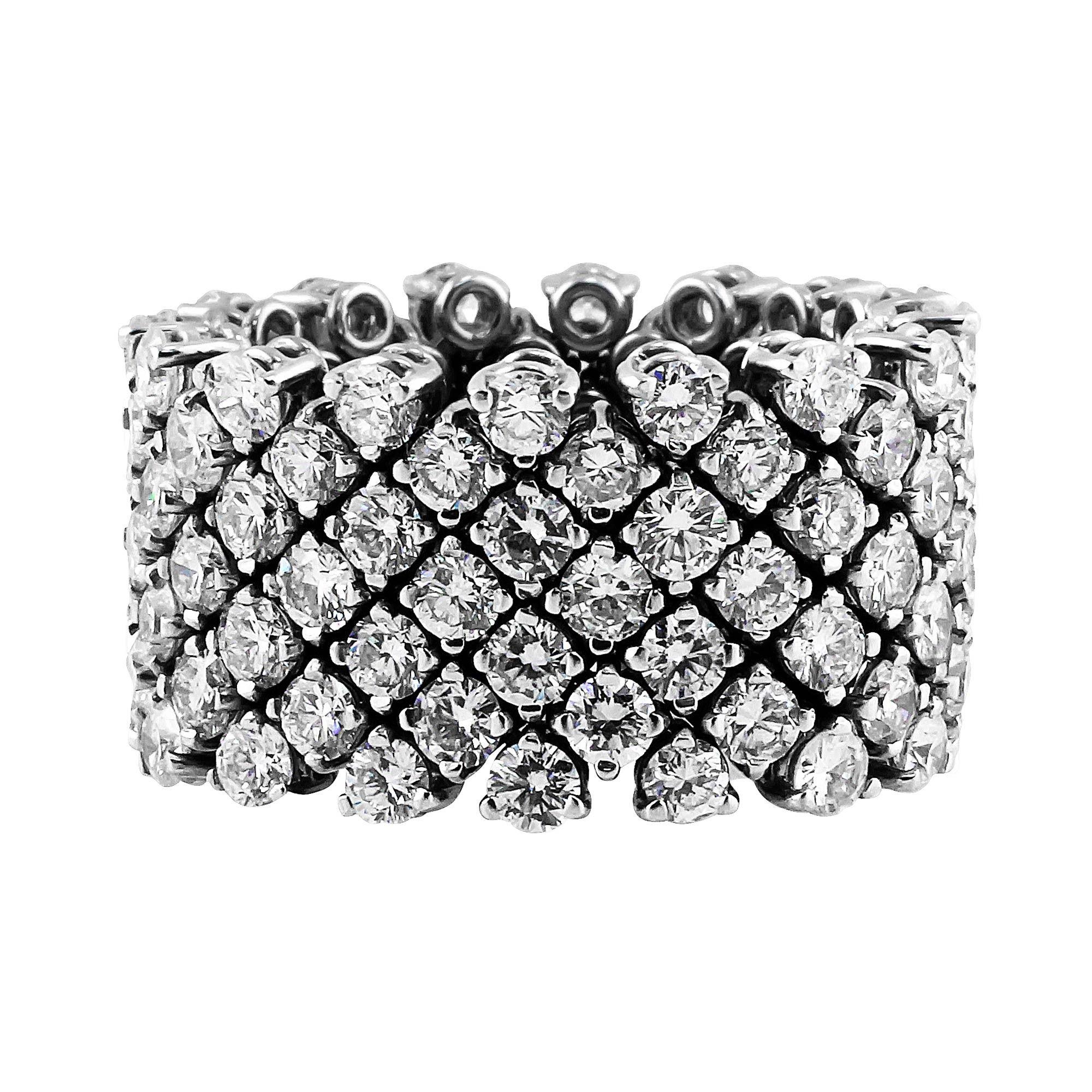 Diamond Flexible Eternity Band Diamond Rings