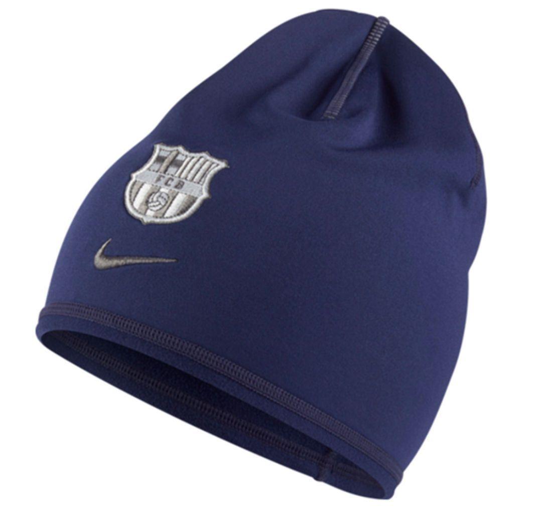 66e3108ffb1 NIKE FC BARCELONA TRAINING BEANIE ONE SIZE Blue Silver