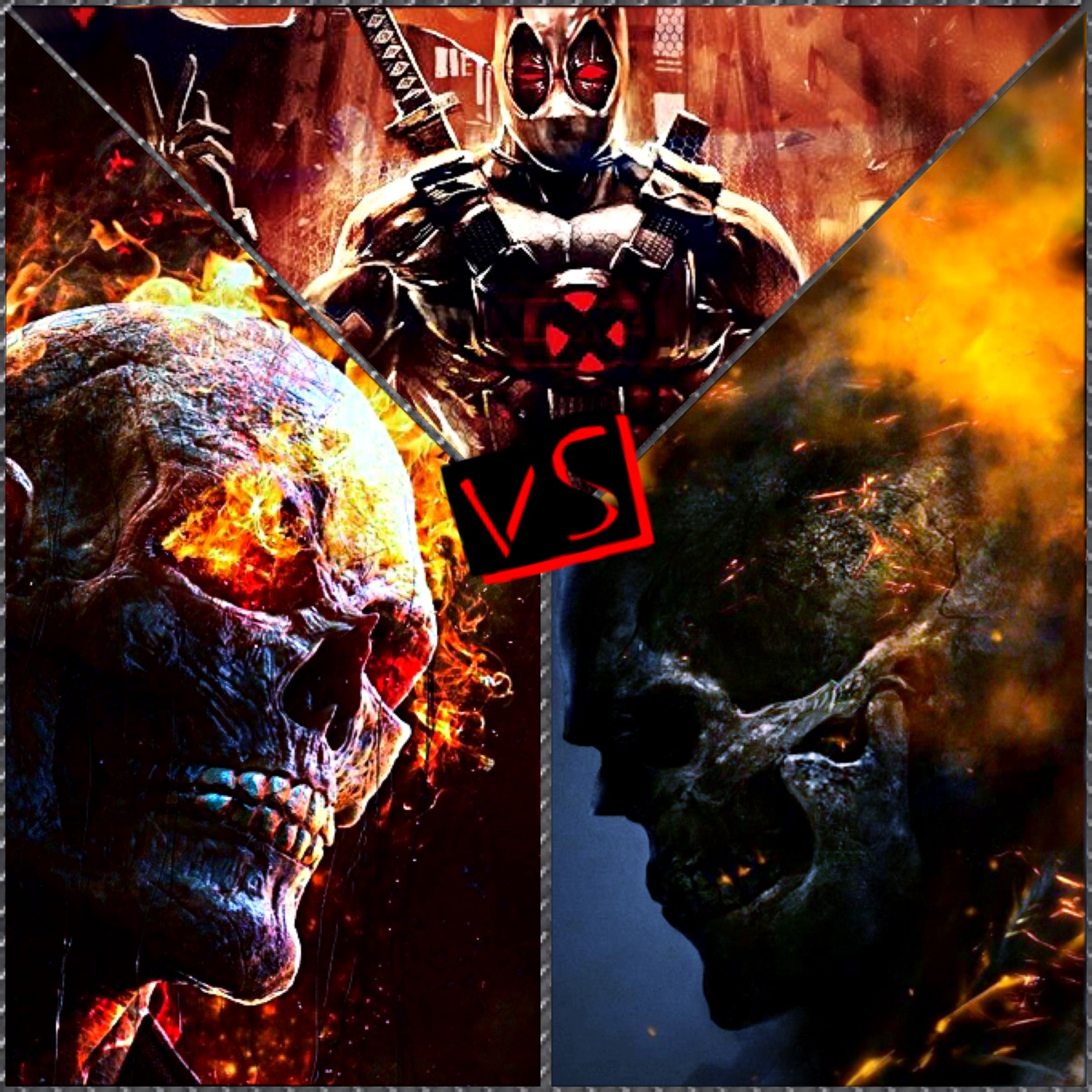 Dead pool VS 2 ghost riders