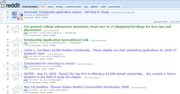 College Scholarship Mom Tip: Reddit Scholarship Search