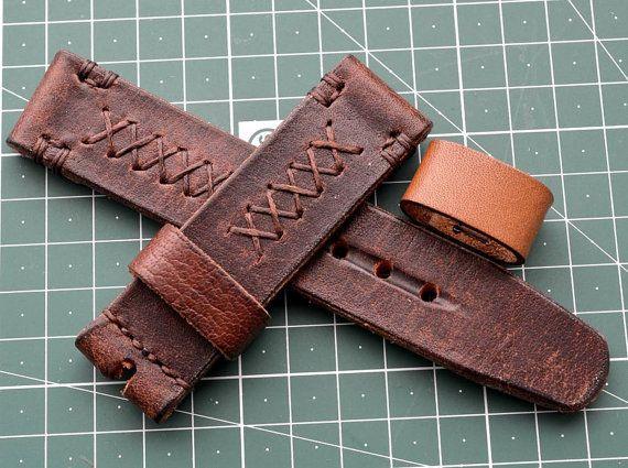 Heavy Leather Rusty Brown Watch Strap By Vladislavkostetskyi