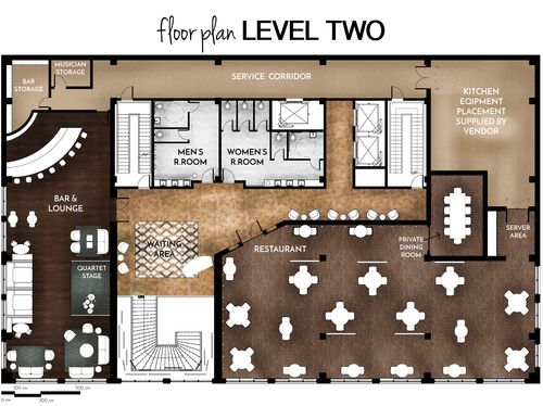 The Cafe Hotel Second Floor Plan