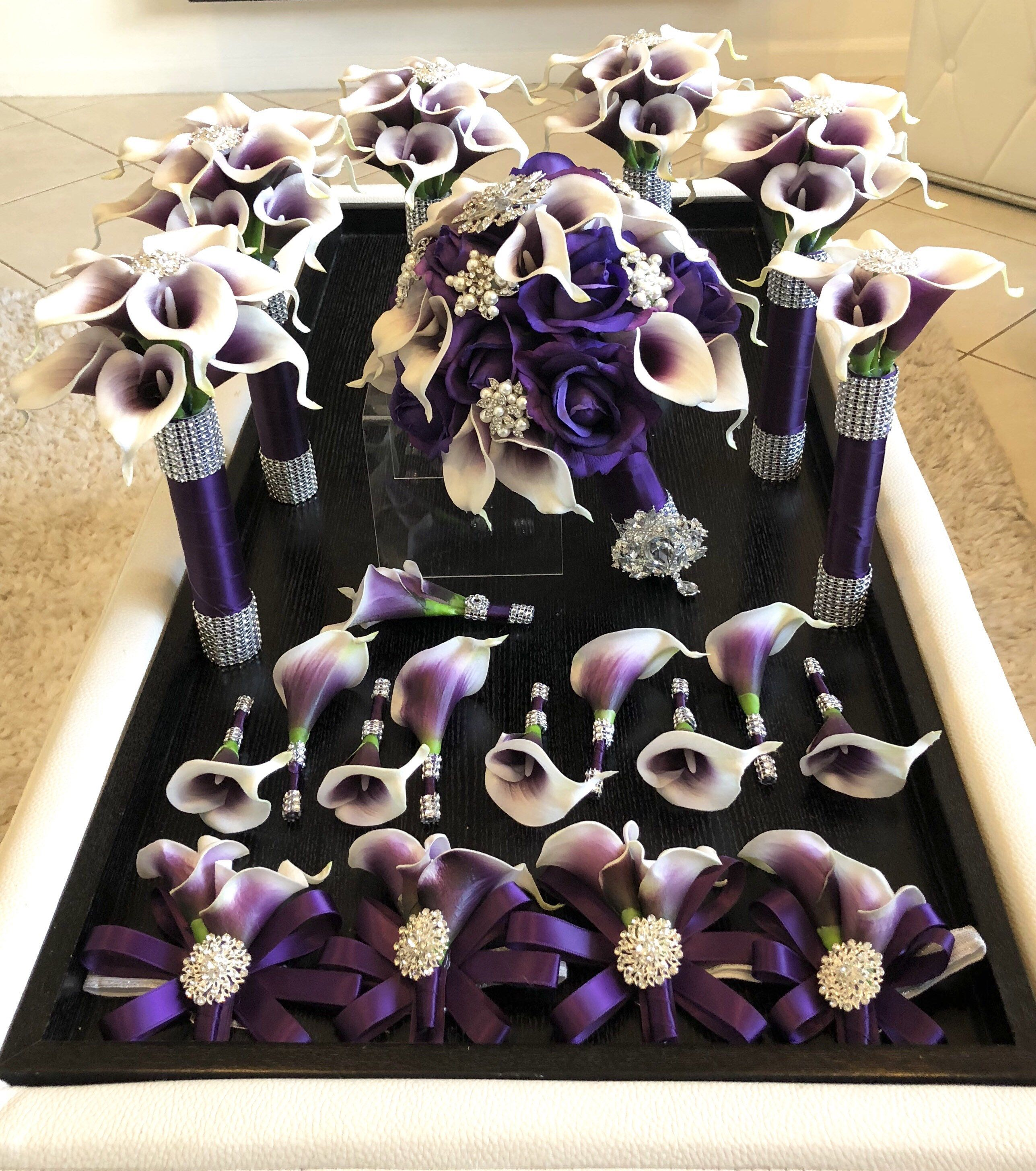 Customize Your Package, Purple Calla Lily Bouquet, Purple