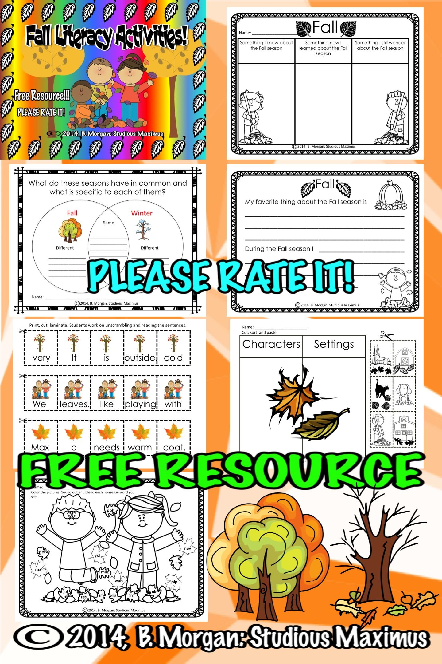 Free resource great addition to your fall literacy center it free resource great addition to your fall literacy center it includes writing prompt ccuart Gallery