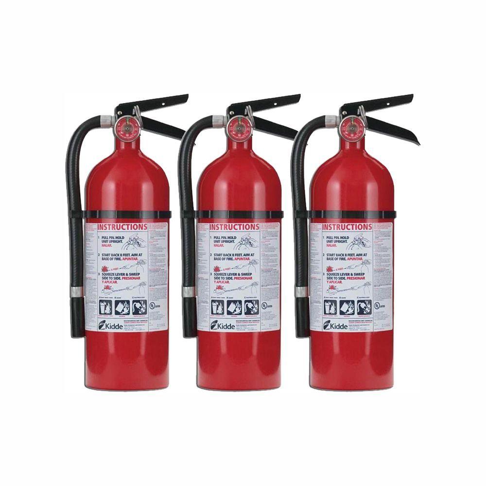 Kidde Pro 210 2-A;10-B;C Fire Extinguisher (3-Pack ...