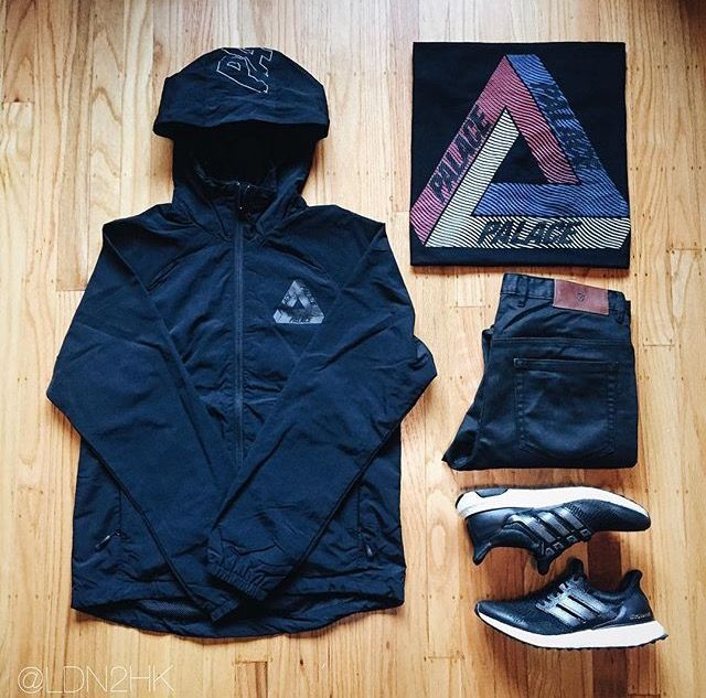Outfit grid - Palace hooded overshell