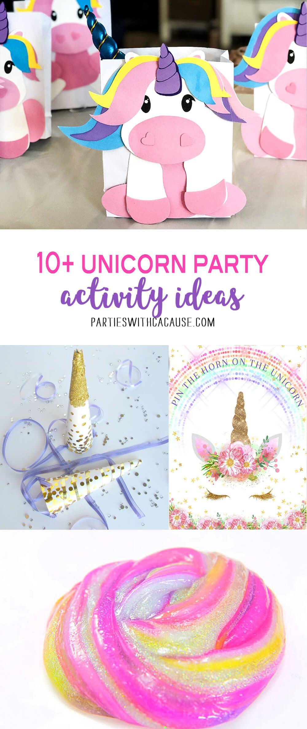 10+ Unicorn Birthday Party Game Ideas Unicorn birthday