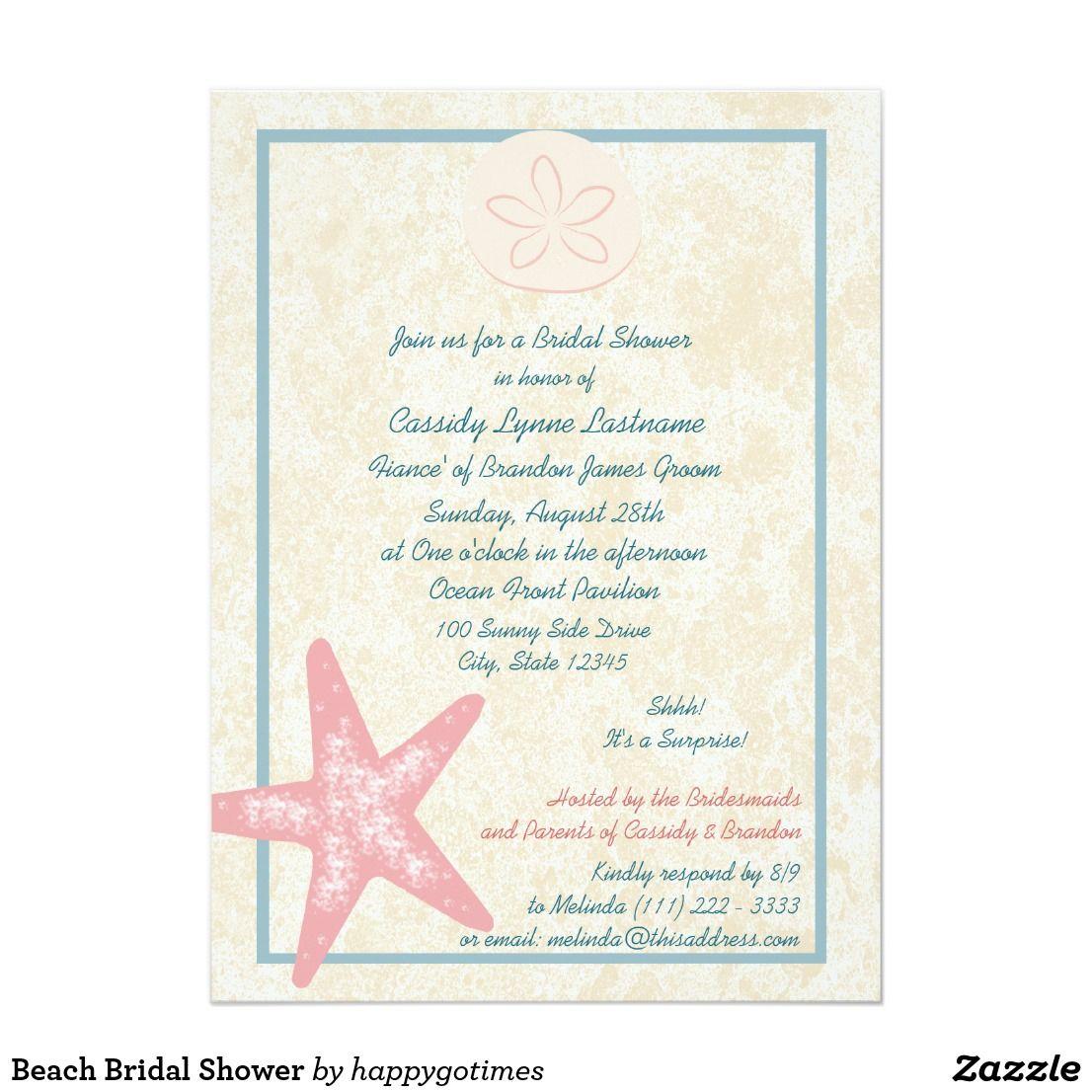 Beach Bridal Shower Card Adorable Beach theme bridal shower ...