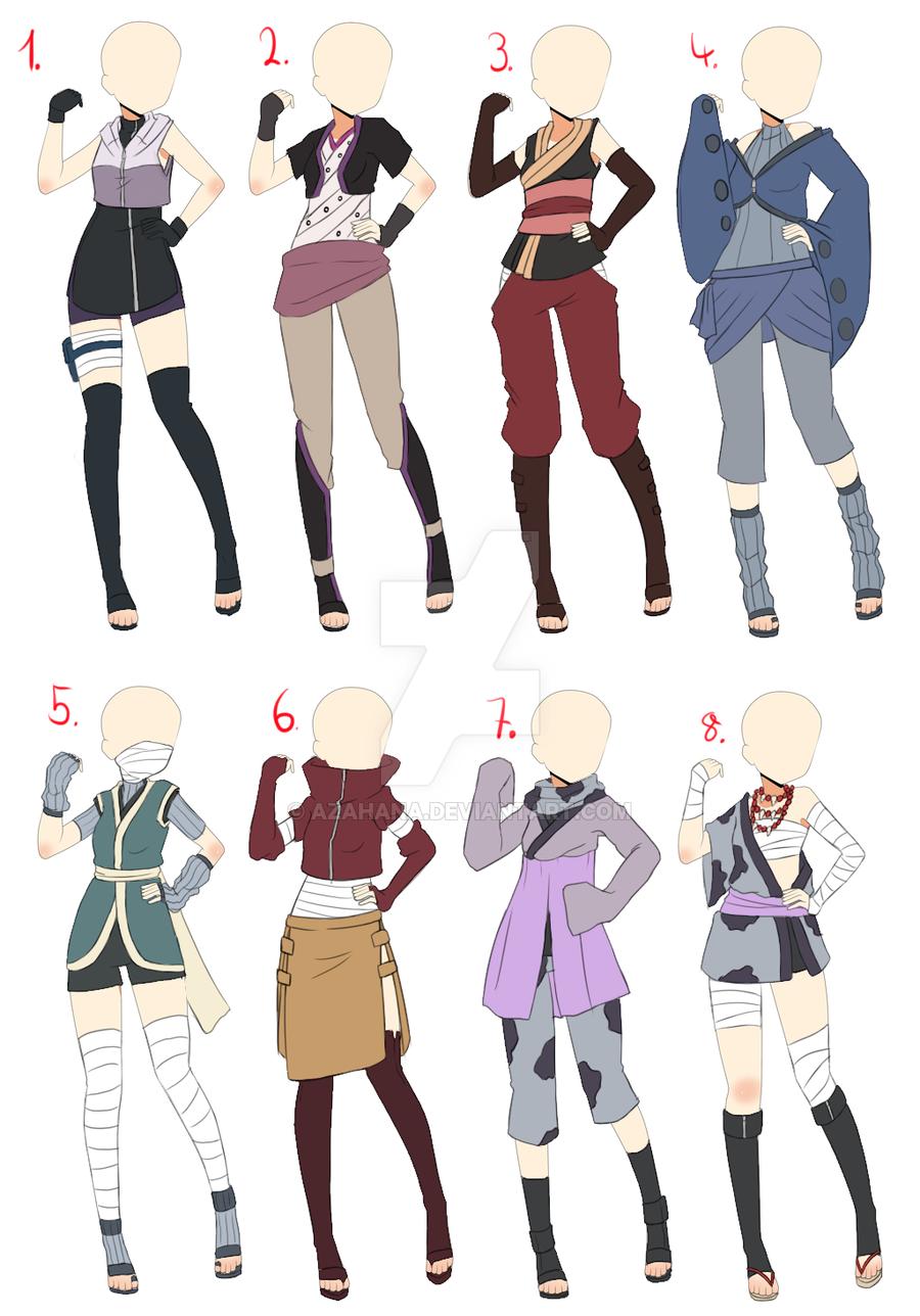 [Closed]Naruto Outfit adopt batch 1 by AzaHana.deviantart.com on @DeviantArt | outfits ...
