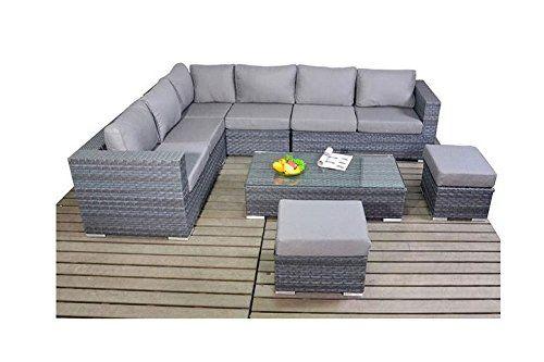 alexander anderson platinum rattan garden furniture small left corner sofa set