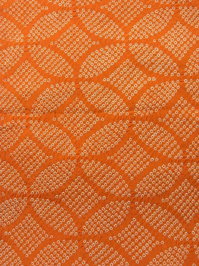 Vintage silk shibori dyed chuya obi, detail.