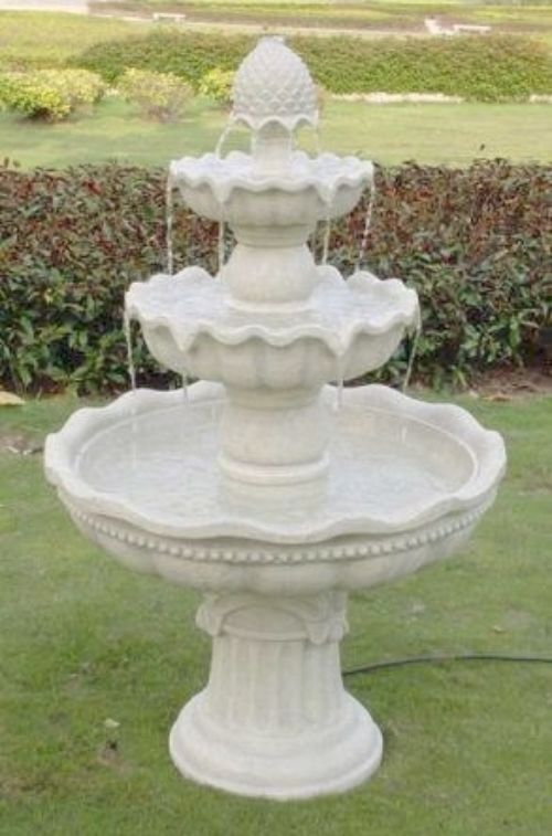 3 Tier Electric Fountain Outdoor Garden Water Feature Patio Yard Decor  Fountain