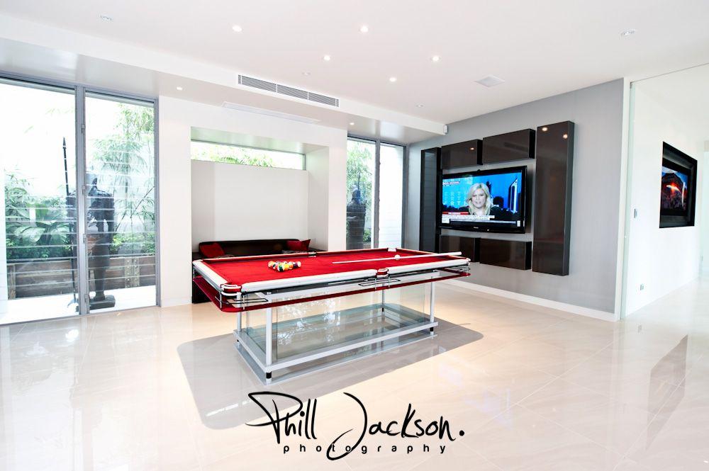 Games room in a custom home by G.J. Gardner Homes.   Game room ...