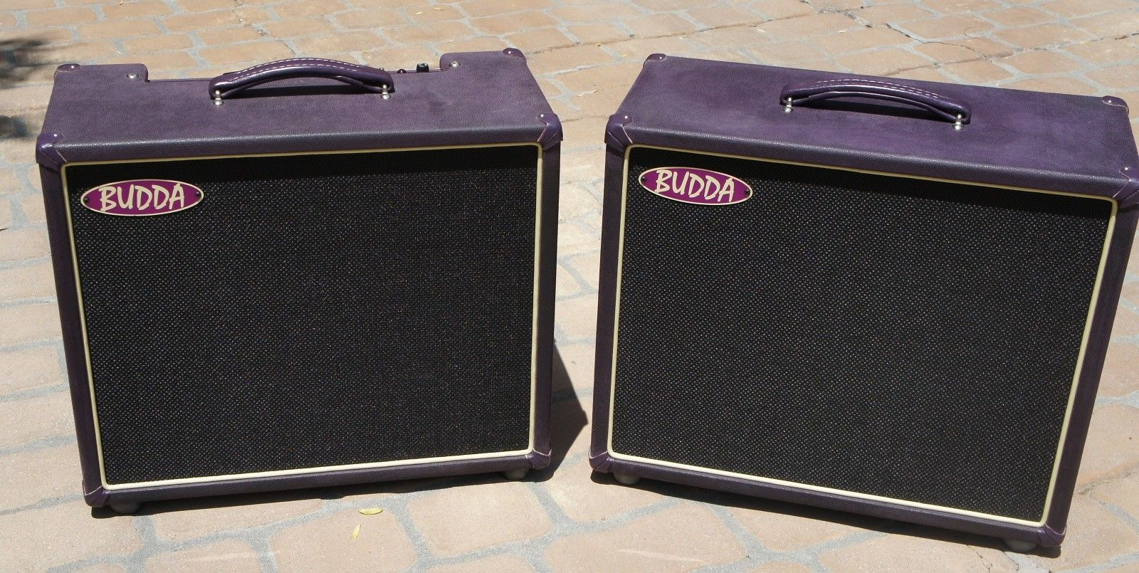 Budda Twinmaster 10th Anniversary 1x12 combo amp, road case, 1x12 extension speaker cab, purple | Reverb