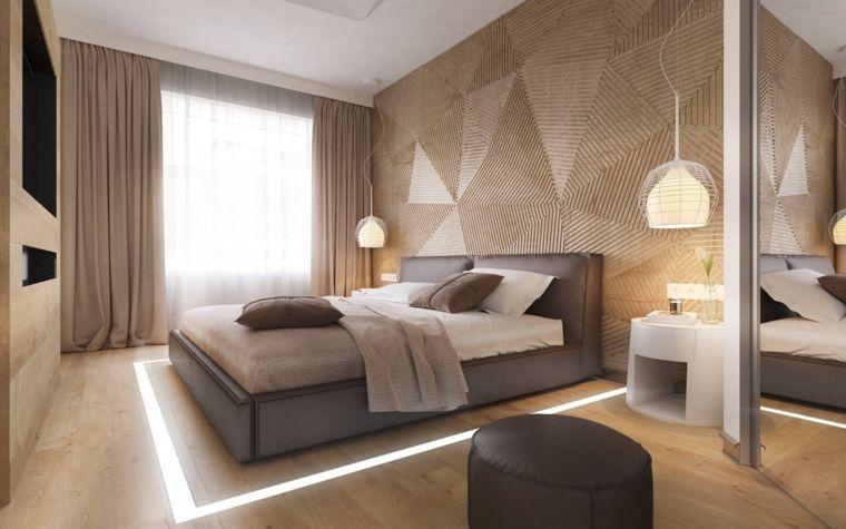 parete-forme-geometriche-lampade-sospensione-letto-colore-grigio ...
