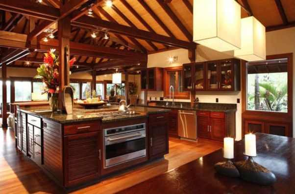 Tropical Style Kitchen Design Remain Great With Tropical Style Kitchen Style