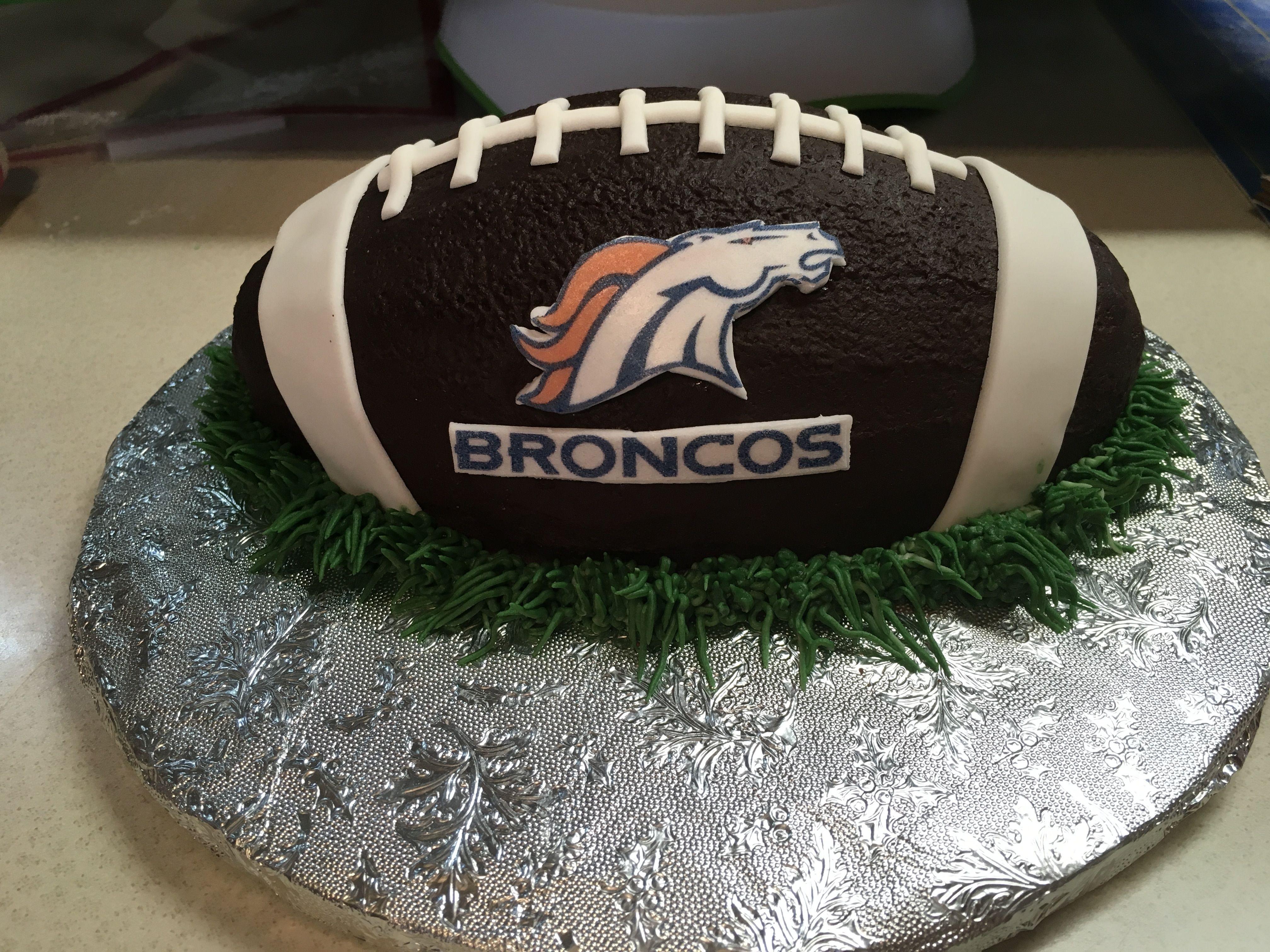 Denver Broncos smash cake Grannys Custom Cakes Pinterest