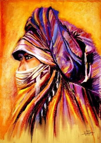 African Beauty From The West Desert By Hosny Soliman An Egyptian Painter