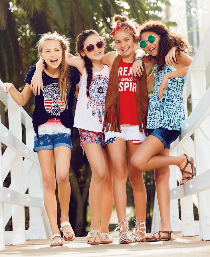 Tween Girl Fashion Black: The Summer Squad's All Here And Ready For Fashion Fun In